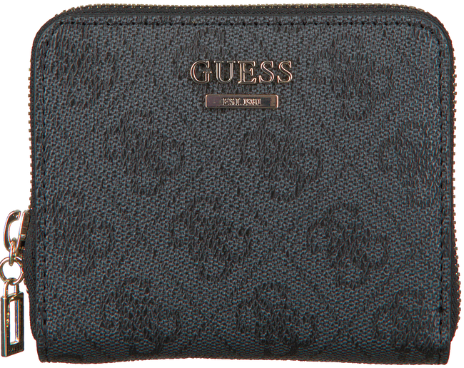 GUESS Porte-monnaie CATHLEEN SLG CHEQUE SMALL ZIP en noir  - large