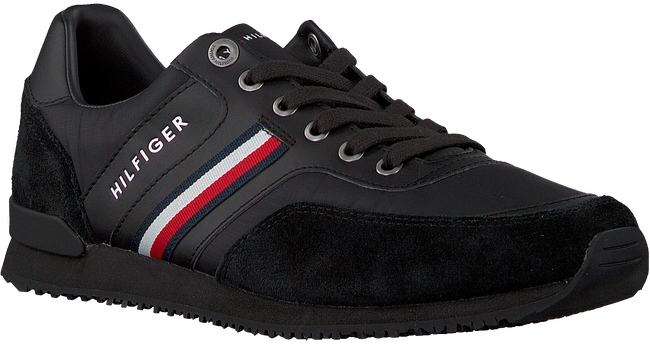 Zwarte TOMMY HILFIGER Lage sneakers ICONIC RUNNER  - large