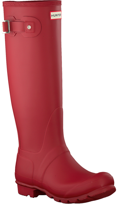 HUNTER Bottes en caoutchouc WOMENS ORIGINAL TALL en rouge - large