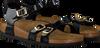 Black BIRKENSTOCK PAPILLIO shoe KUMBA MAGIC SNAKE  - small