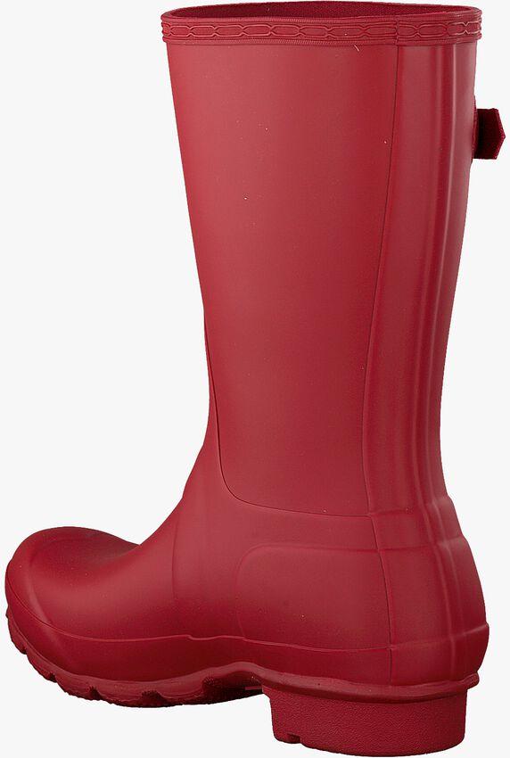 HUNTER Bottes en caoutchouc WOMENS ORIGINAL SHORT en rouge - larger