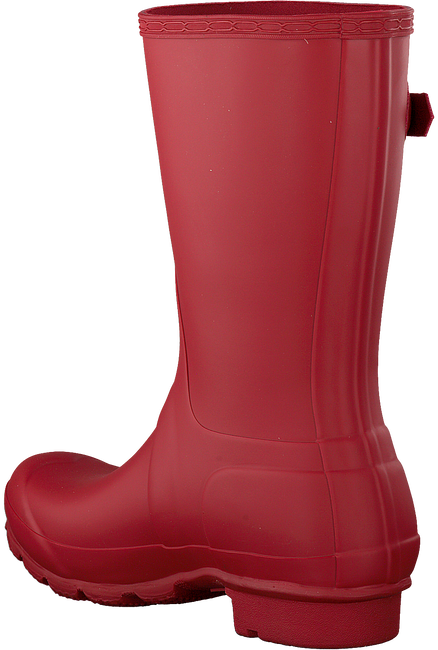 HUNTER Bottes en caoutchouc WOMENS ORIGINAL SHORT en rouge - large