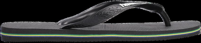 Zwarte HAVAIANAS Slippers BRASIL LOGO - larger