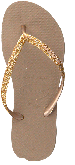 HAVAIANAS Tongs KIDS SLIM GLITTER en rose  - large