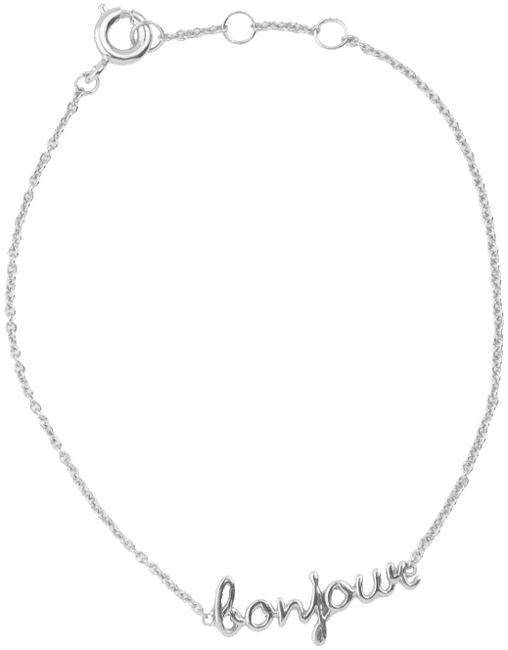 ALLTHELUCKINTHEWORLD Bracelet URBAN BRACELET BONJOUR en argent - large