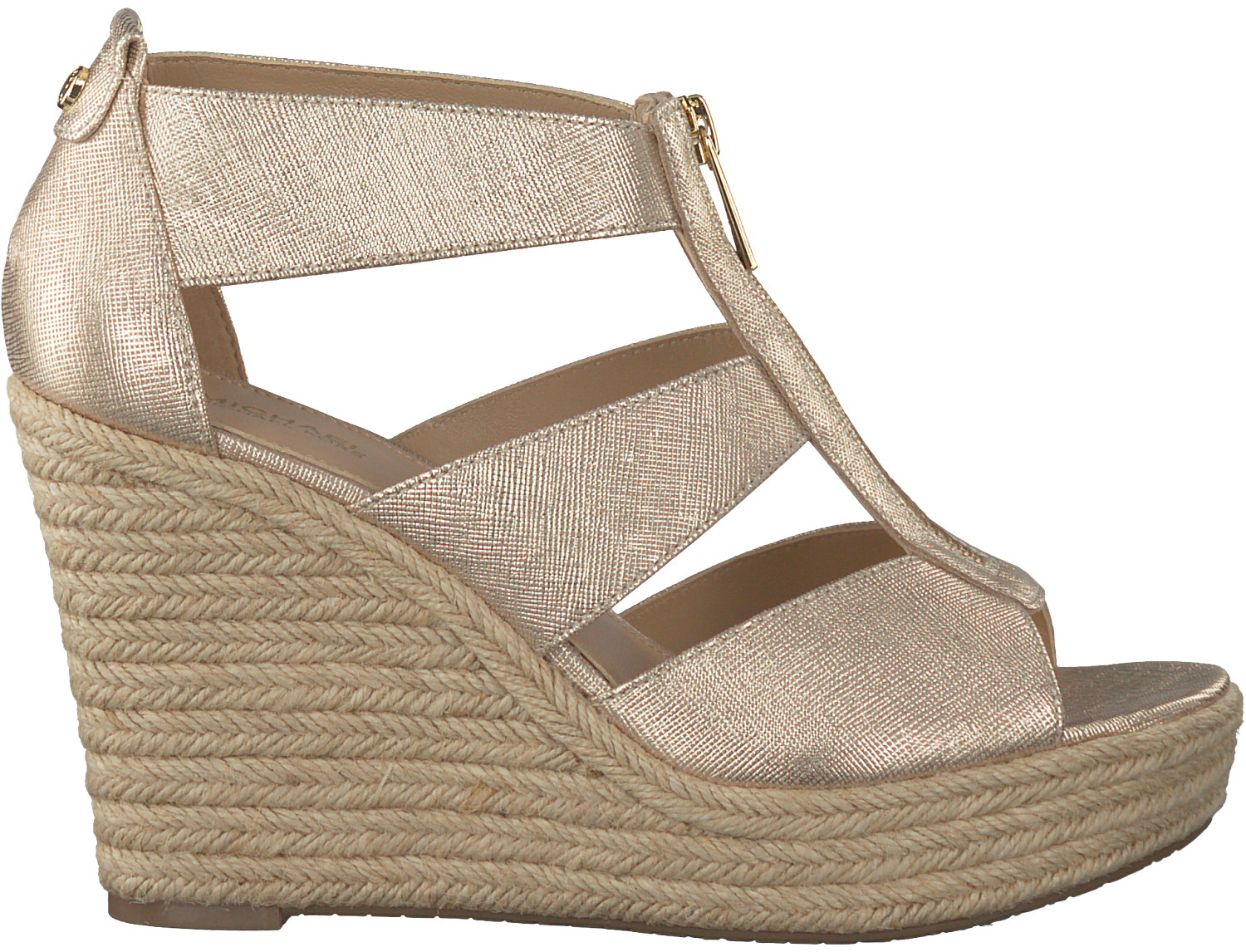 c7412dc2b36 Gouden MICHAEL KORS Sandalen DAMITA WEDGE - large. Next