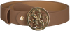 Cognac GUESS Riem ADJUSTABLE PANT BELT  - small