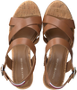 Cognac TOMMY HILFIGER Sandalen CORPORATE WEDGE  - small