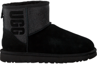 Zwarte UGG Vachtlaarzen CLASSIC MINI UGG SPARKLE - medium