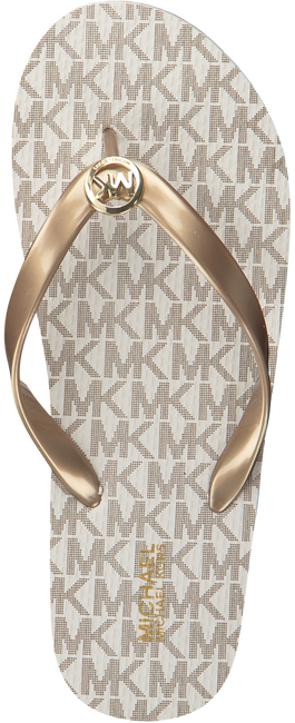 MICHAEL KORS Tongs MK FLIP FLOP en blanc - large