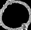 ALLTHELUCKINTHEWORLD Bracelet CHARACTER BRACELET LETTER SILV en argent - small
