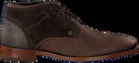 REHAB Bottines à lacets SALVADOR ZIG ZAG en marron - medium