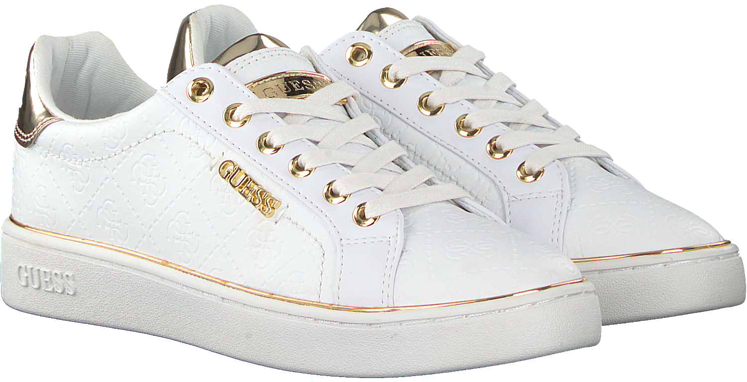 e5a05039b56 Witte GUESS Sneakers BECKIE - Omoda.be