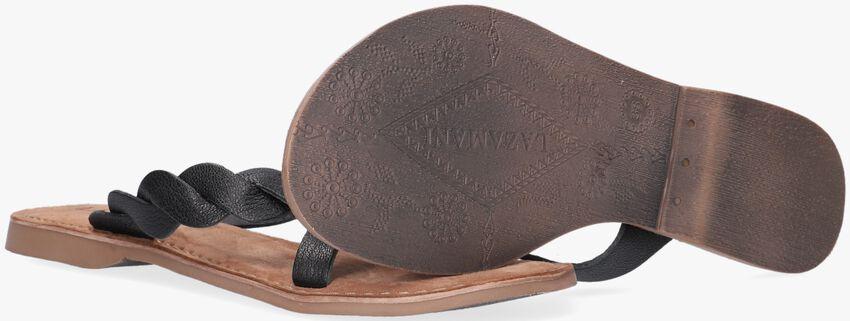 LAZAMANI Tongs 75.283 en noir - larger