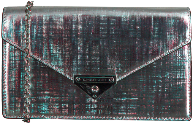 MICHAEL KORS Pochette GRACE MD ENVELOPE CLUTCH en argent  - large