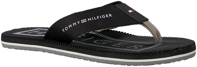 Zwarte TOMMY HILFIGER Slippers MASSAGE FOOTBED TH BEACH  - large