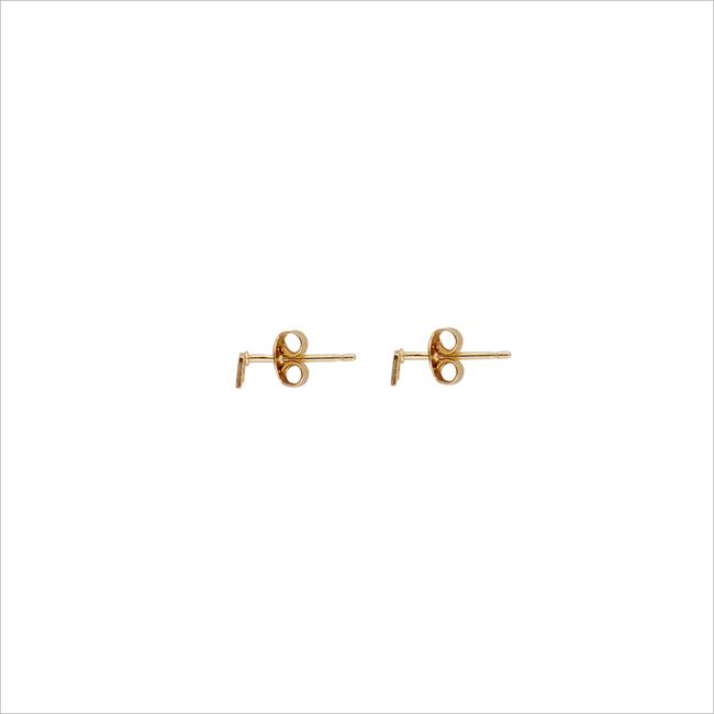 ALLTHELUCKINTHEWORLD Boucles d'oreilles PETITE EARRINGS SQUARE en or - large