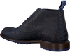 FLORIS VAN BOMMEL Bottines à lacets 10203 en bleu  - small