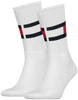 TOMMY HILFIGER Chaussettes TH FLAG en blanc - small