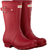 HUNTER Bottes en caoutchouc WOMENS ORIGINAL SHORT en rouge - small