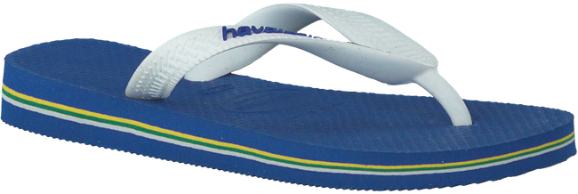 HAVAIANAS Tongs BRASIL LOGO KIDS en bleu - large