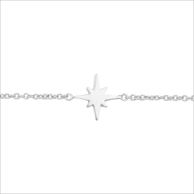 ALLTHELUCKINTHEWORLD Bracelet SOUVENIR BRACELET STAR BURST en argent - large