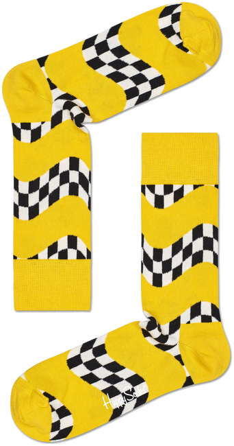 HAPPY SOCKS Chaussettes RACE SOCK en blanc  - large