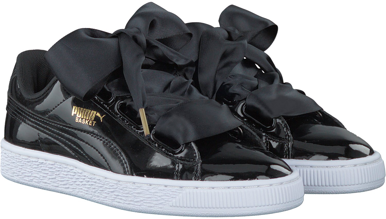 bas prix 40481 70dd9 PUMA Baskets BASKET HEART PATENT en noir