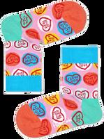 HAPPY SOCKS Chaussettes SWEET HEART en rose  - medium