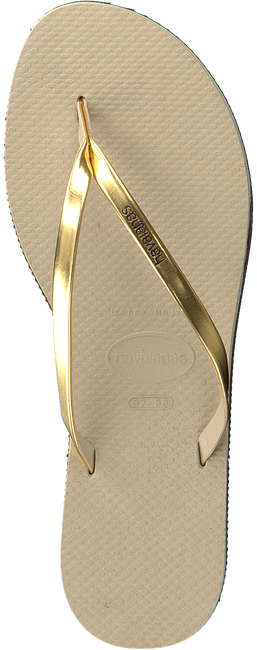 HAVAIANAS Tongs YOU METALLIC en beige - large