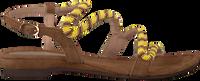 LAZAMANI Sandales 85.268 en jaune  - medium