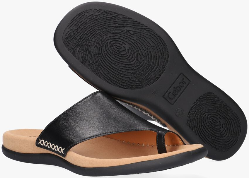 GABOR Tongs 700 en noir  - larger