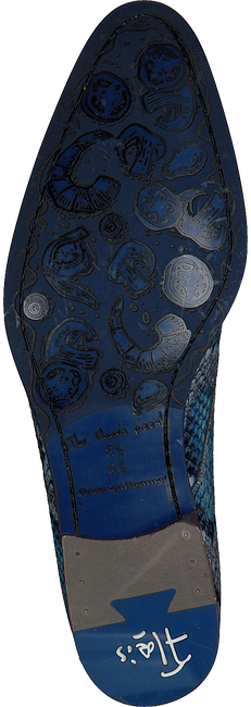 FLORIS VAN BOMMEL Richelieus 18224 en bleu  - large