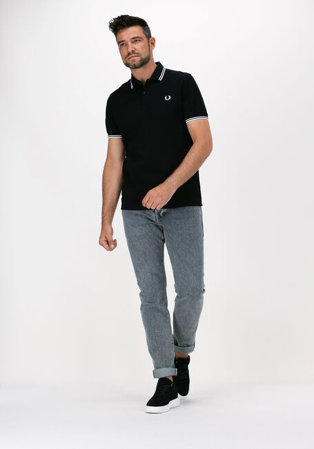 Zwarte FRED PERRY Polo TWIN TIPPED PRED PERRY SHIRT  - large