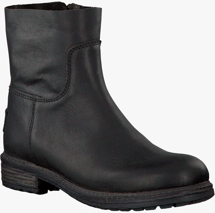 Zwarte SHABBIES Enkellaarsjes 172-0062SH  - larger