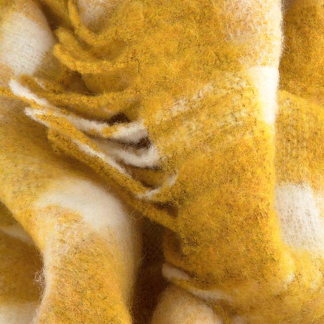 BECKSONDERGAARD Foulard ISOBELL SCARF en jaune  - large