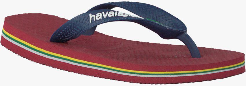 HAVAIANAS Tongs BRASIL LOGO KIDS en rouge - larger