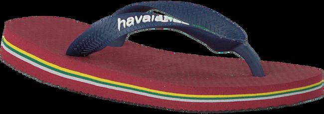 HAVAIANAS Tongs BRASIL LOGO KIDS en rouge - large