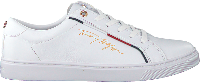 Witte TOMMY HILFIGER Lage sneakers SIGNATURE  - large