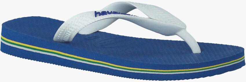 Blauwe HAVAIANAS Slippers BRASIL LOGO KIDS  - larger