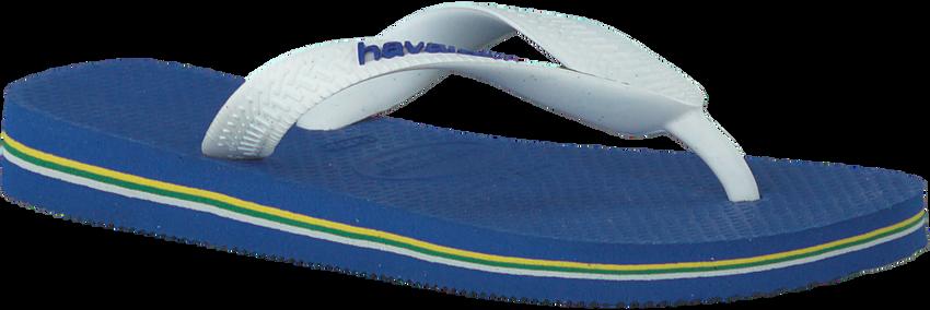 HAVAIANAS Tongs BRASIL LOGO KIDS en bleu - larger