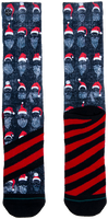 XPOOOS Chaussettes XMAS BEARD RULES en gris  - medium