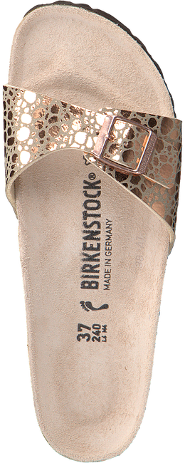 BIRKENSTOCK PAPILLIO Tongs MADRID METALLIC STONES en beige - large