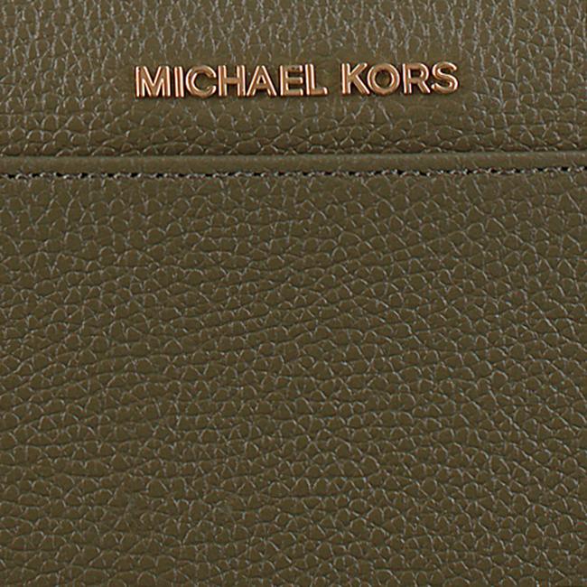 MICHAEL KORS Porte-monnaie POCKET ZA en vert - large
