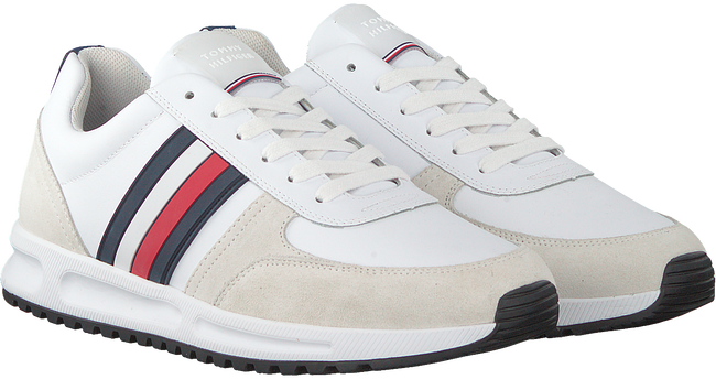 TOMMY HILFIGER Baskets basses MODERN CORPORATE RUNNER en blanc  - large