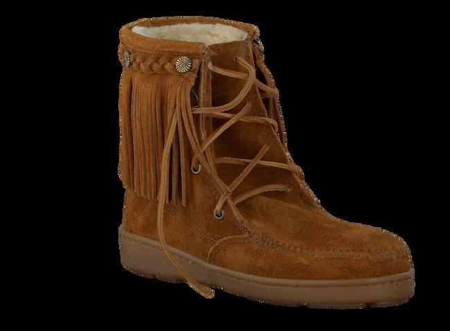 cognac MINNETONKA shoe PILE LINED TRAMPER BOOT  - large