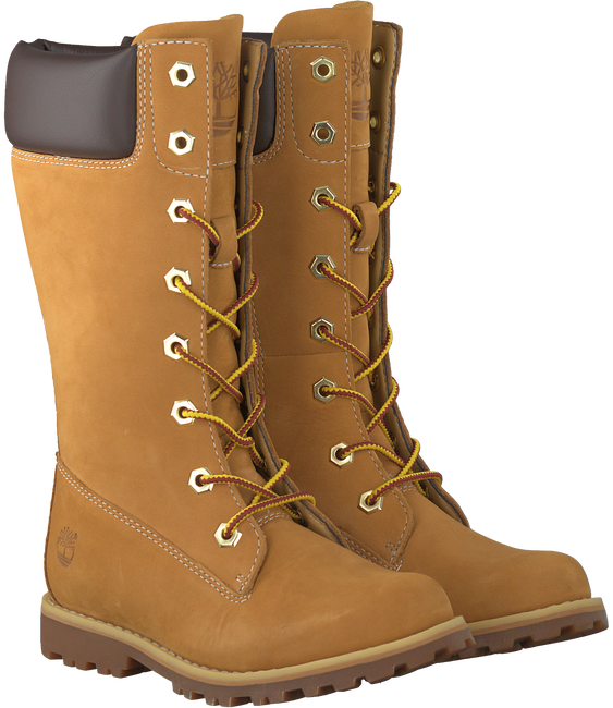 TIMBERLAND Bottes hautes GIRLS CLASSIC TALL LACE-UP en camel - large