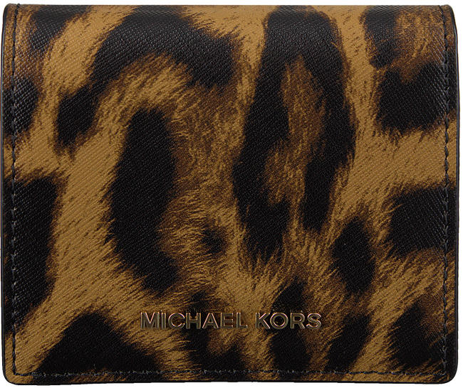 MICHAEL KORS Porte-monnaie FLAP CARD HOLDER en marron - large