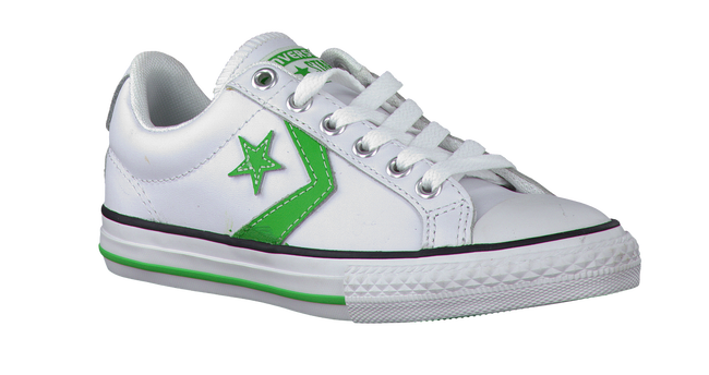 CONVERSE Baskets STAR PLAYER OX KIDS en blanc - large