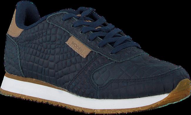 Blauwe WODEN Lage sneakers YDUN CROCO  - large